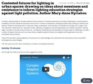 Contested futures for lighting in urban spaces,  Mary-Anne Kyriakou