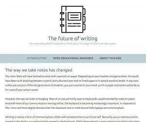 The future of writing, Charlotte Rixten