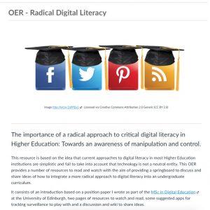 Radical Digital Literacy, Ruth Weeks