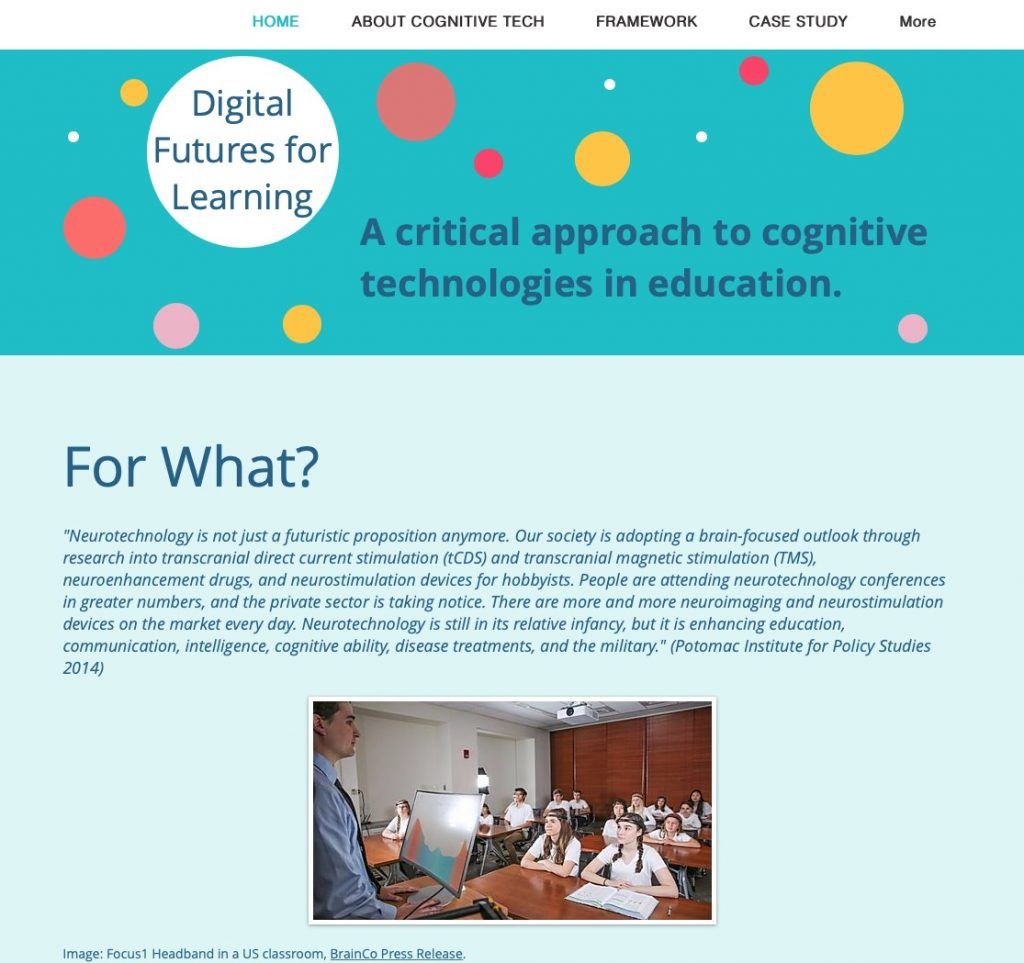 Henrietta Carbonel, A critical approach to cognitive technologies in education