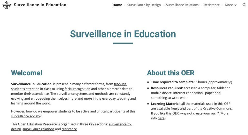 Anna Torres Menendez, Surveillance in Education